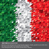 Abstract Italy Background, Italian Flag (Vector Art)