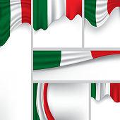 Abstract Italy Flag, Italian Vector Flag Banner (Vector Art)