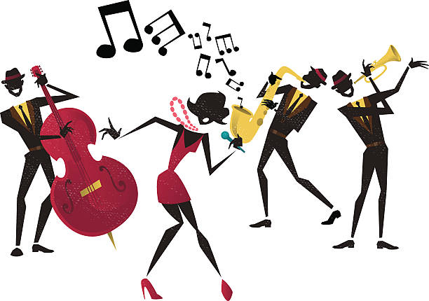 Abstract Jazz Band. vector art illustration