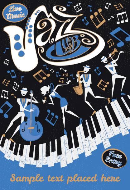 Abstract Jazz Club Poster vector art illustration