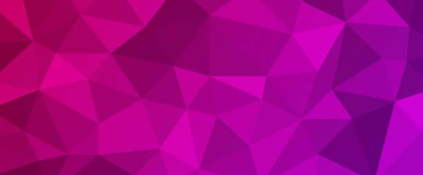 illustrazioni stock, clip art, cartoni animati e icone di tendenza di abstract jewel prism background - magenta