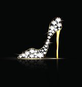 black background and the abstract jewel shoe