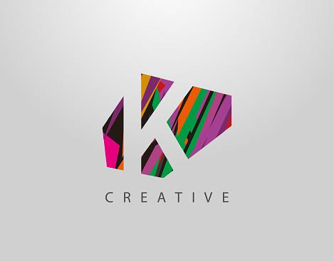 Abstract K letter design