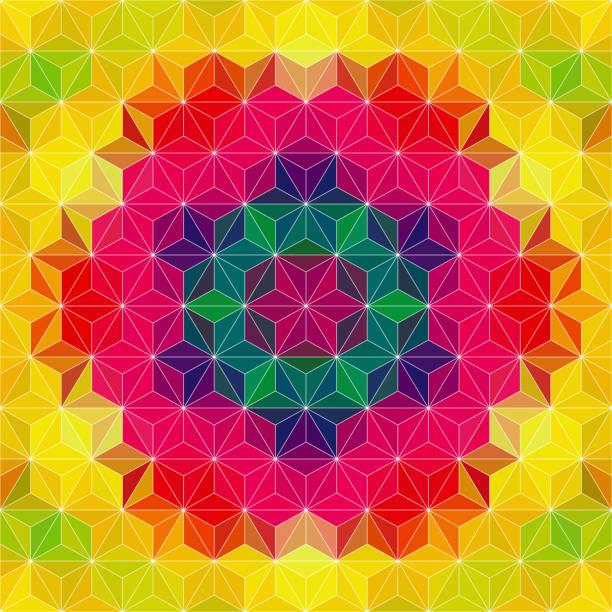Abstrakte Kaleidoskop psychedelische Muster – Vektorgrafik