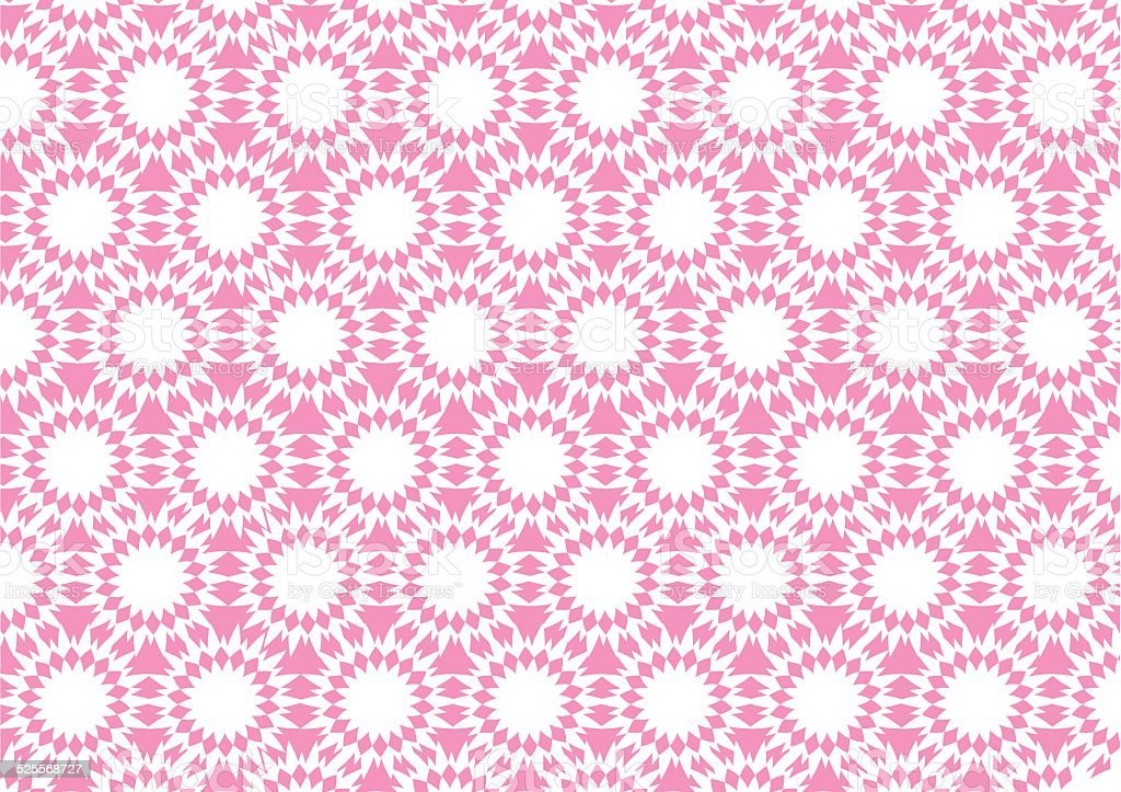 Abstract Kaleidoscopic Seamless Pattern in Pink for Wallpaper vector art illustration