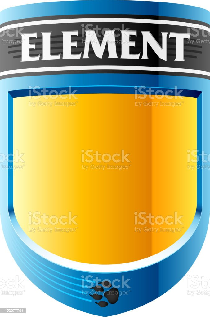 Abstract label design template royalty-free stock vector art