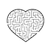 Abstract labyrinth. Game for kids. Puzzle for children. Maze conundrum. Vector illustration