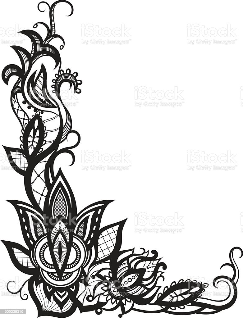abstract lace with elements of flowers and leaves stock vector art rh istockphoto com lace vector art lace vectors