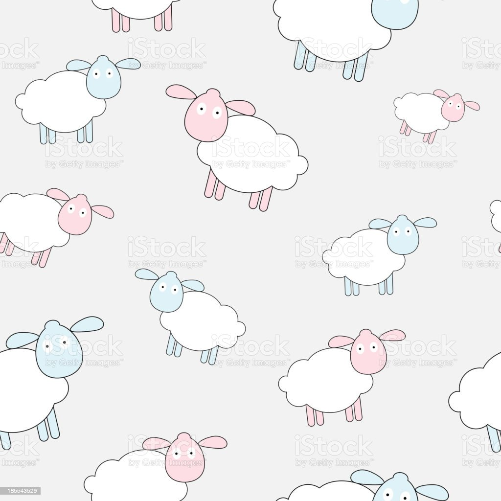 Abstract lamb seamless pattern background vector illustration royalty-free abstract lamb seamless pattern background vector illustration stock vector art & more images of abstract