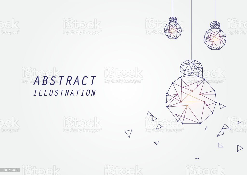 Abstract lamp with copy space design vector art illustration