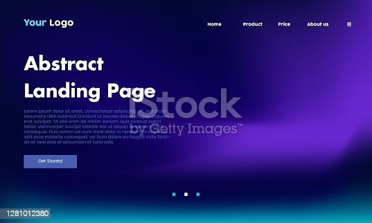 abstract landing webpage background