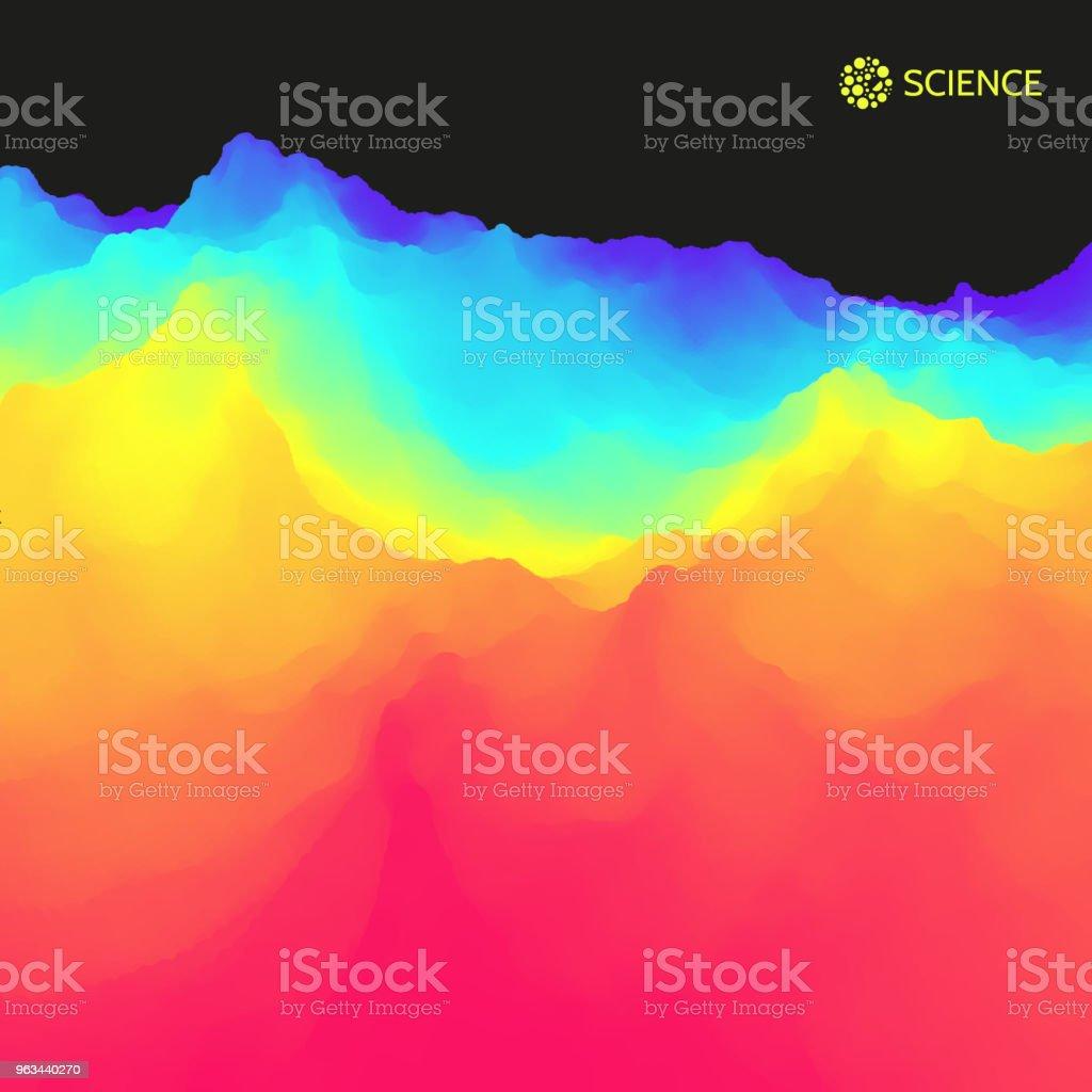 Arrière-plan de paysage abstrait. 3D Illustration vectorielle. - clipart vectoriel de Abstrait libre de droits
