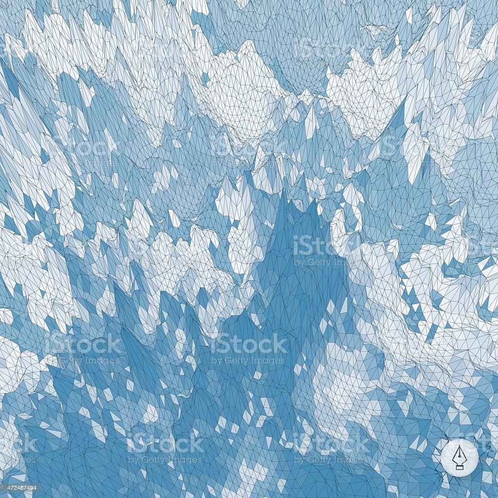Abstract landscape background. Mosaic vector illustration. vector art illustration