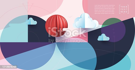 Trendy covers layout, web template. Minimal geometric shapes compositions. Applicable for websites, brochures, posters, covers and banners