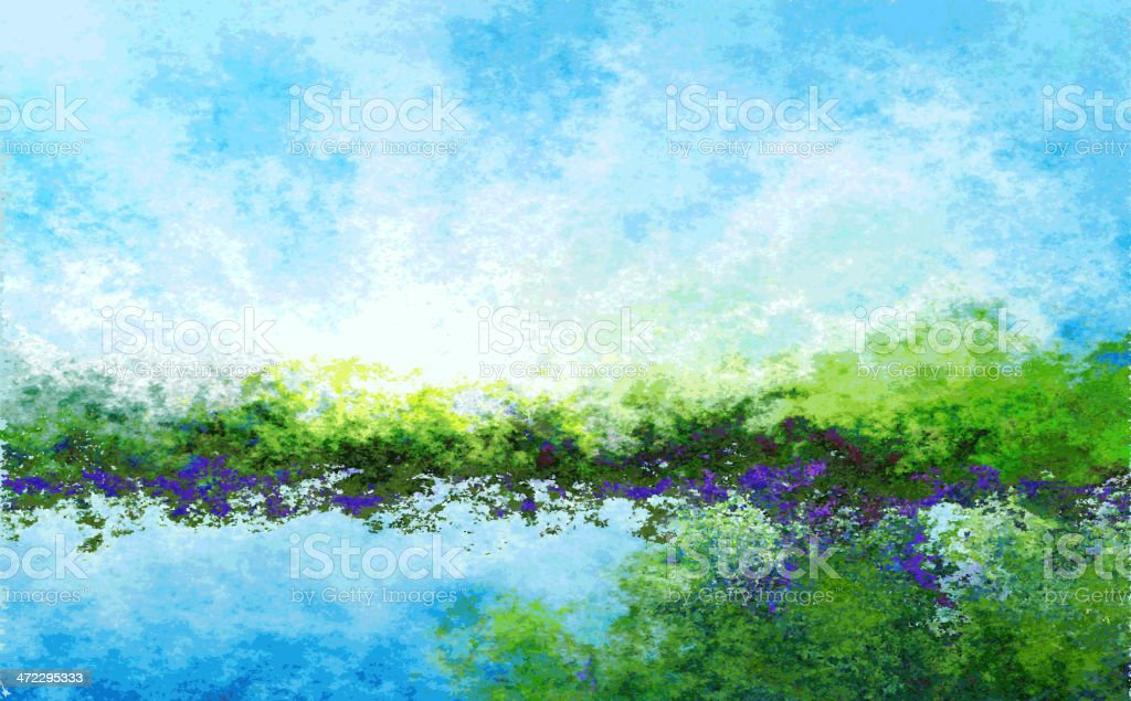 abstract landscape background royalty-free abstract landscape background stock vector art & more images of abstract
