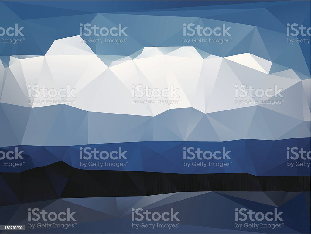 Abstract Landscape royalty-free stock vector art