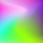 Abstract large multicolored stains. Blurred background green-yellow, blue, pink, magenta. Bright smooth gradient. Template with text place for modern design. Vector EPS 10 illustration