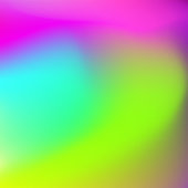 Abstract large stains. Blurred background green-yellow, blue, pink, magenta. Bright smooth gradient. Template with text place for modern design. Vector EPS 10 illustration
