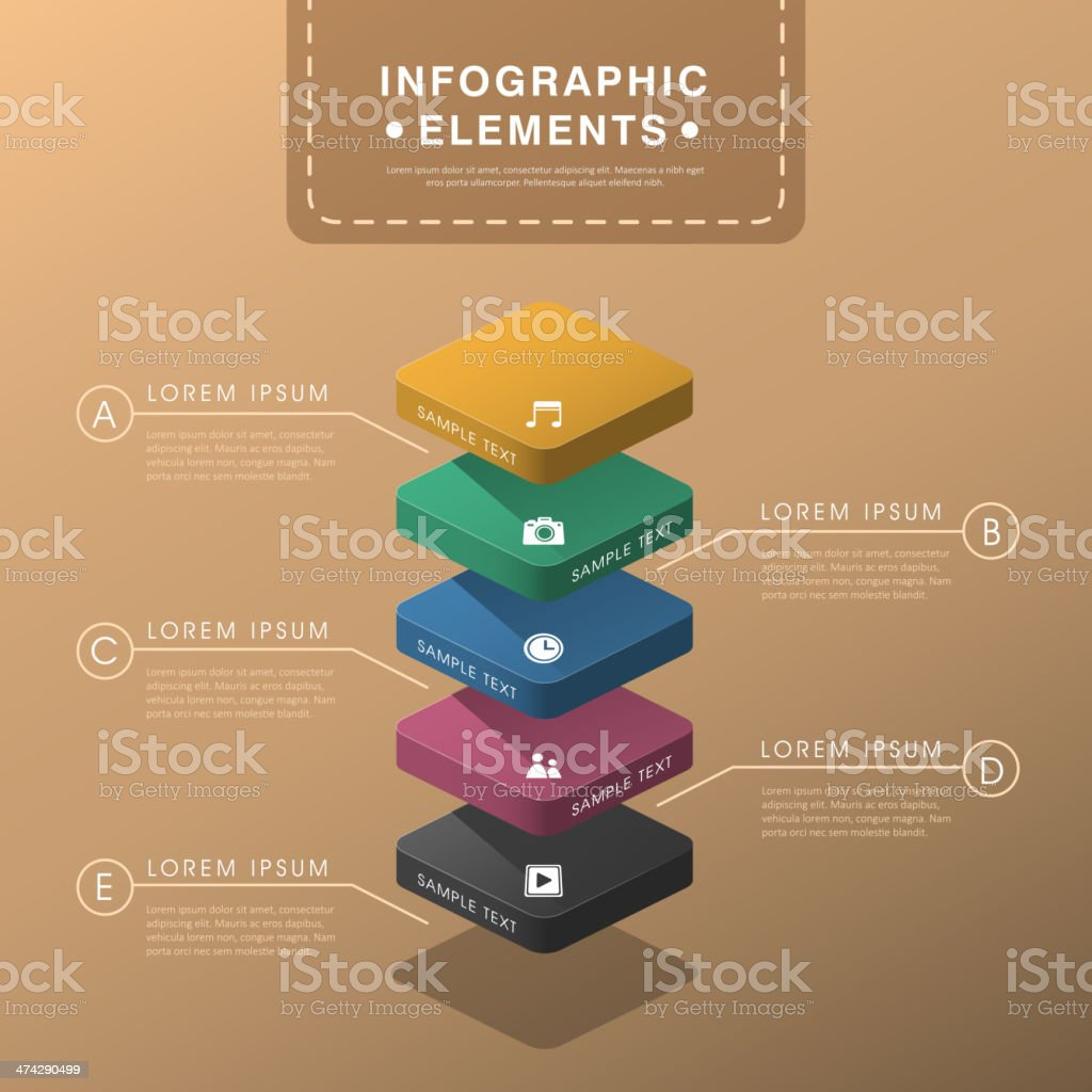 abstract layer chart infographics vector art illustration