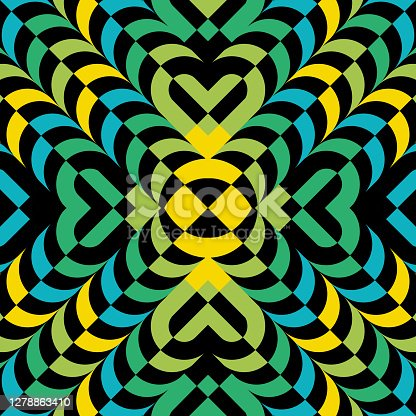 istock Abstract Layered Kaleidoscope Pattern Background 1278863410