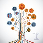Abstract Leadership Tree