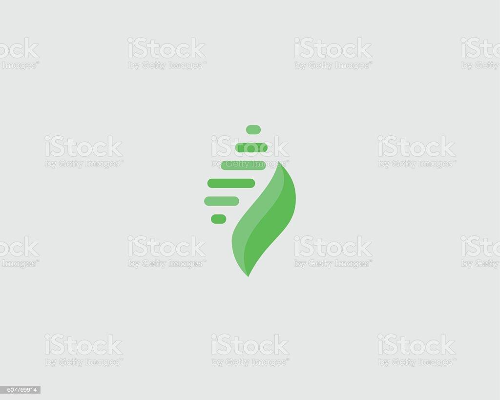 Abstract leaf shell universal premium logo design. Creative beauty vector vector art illustration