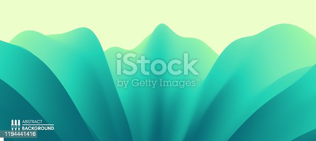 Abstract leaf texture. Floral background. Vector illustration with dynamic effect.
