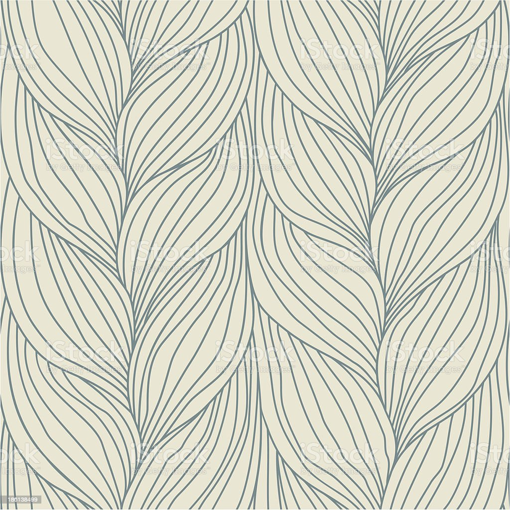 Abstract leaves background design in neutral colors vector art illustration