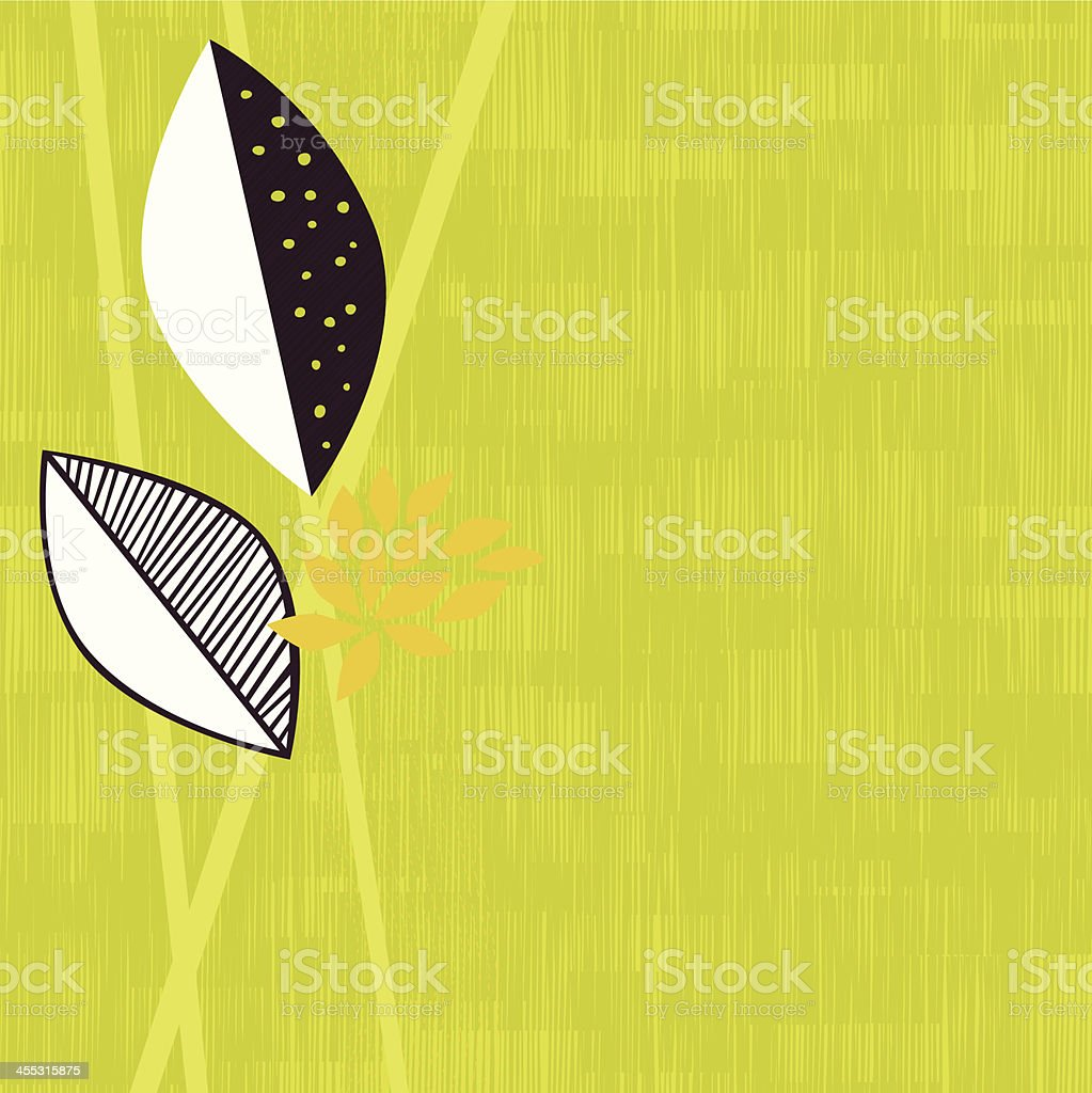 Abstract leaves background vector art illustration