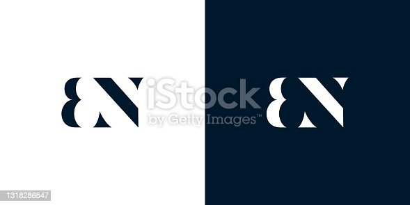 istock Abstract letter BN logo. 1318286547