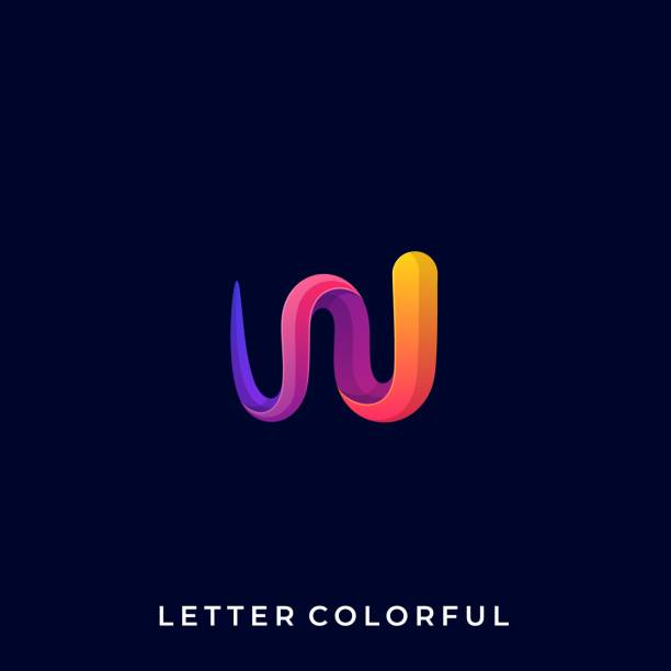 Abstract Letter Color Illustration Vector Template Abstract Letter Color Illustration Vector Template. Suitable for Creative Industry, Multimedia, entertainment, Educations, Shop, and any related business. mono stock illustrations