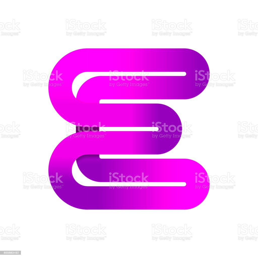 Abstract Letter E Creative Sign Template Vector Illustration Symbol ...