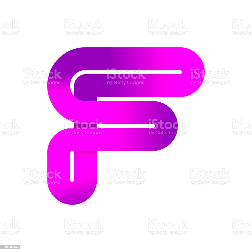 Abstract Letter F Creative Sign Template Vector Illustration Symbol ...