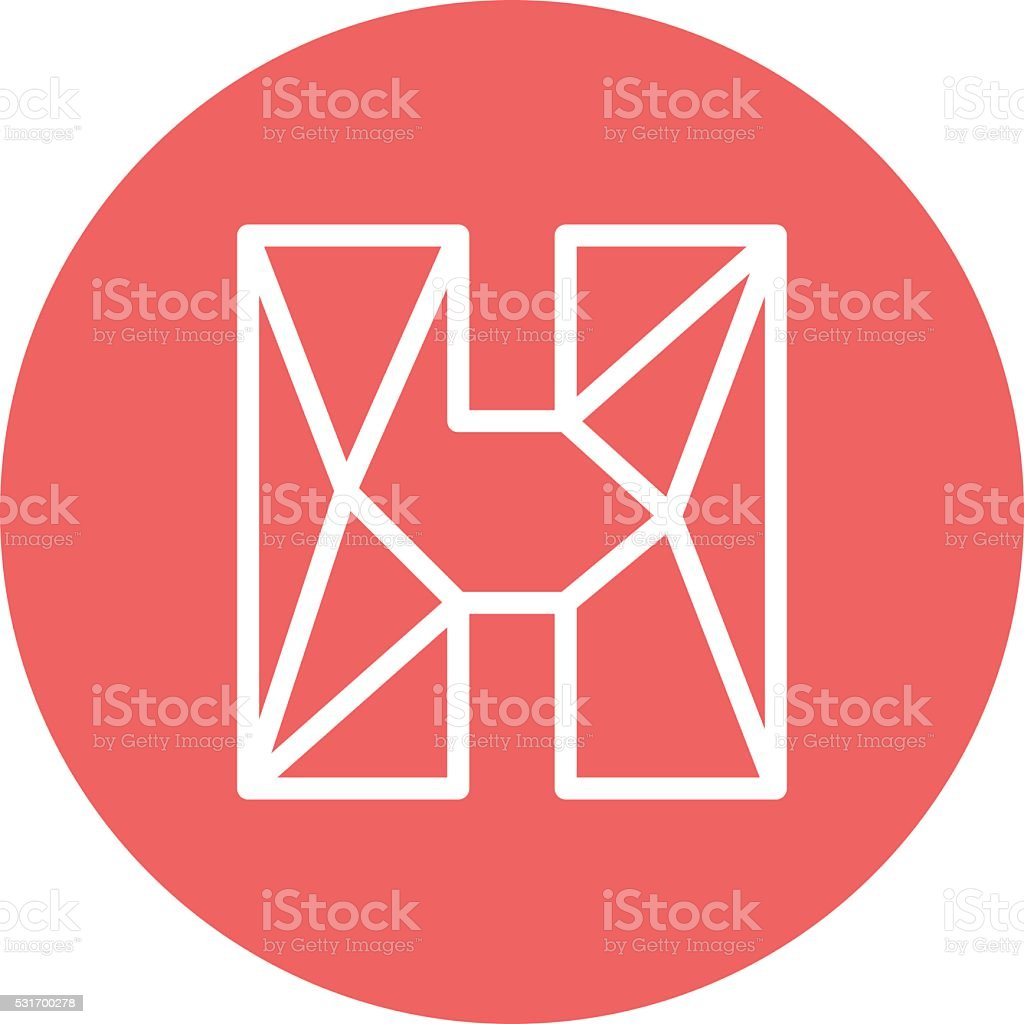 abstract letter h logo design template structure simple line sign