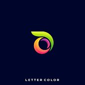 Abstract Letter Illustration Vector Design template
