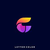 Abstract Letter Illustration Vector Design template. Suitable for Creative Industry, Multimedia, entertainment, Educations, Shop, and any related business