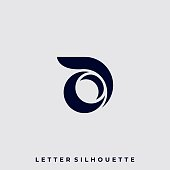 Abstract Letter Illustration Vector Template. Suitable for Creative Industry, Multimedia, entertainment, Educations, Shop, and any related business