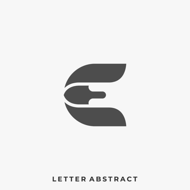 ilustrações de stock, clip art, desenhos animados e ícones de abstract letter illustration vector template - writing ideas