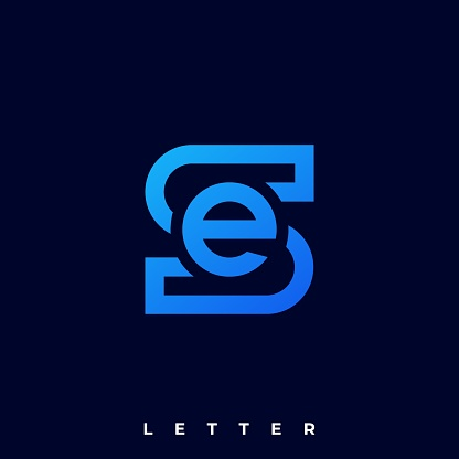 Abstract Letter Illustration Vector Template