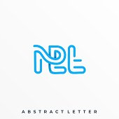 Abstract Letter Illustration Vector Template. Suitable for Creative Industry, Multimedia, entertainment, Educations, Shop, and any related business.