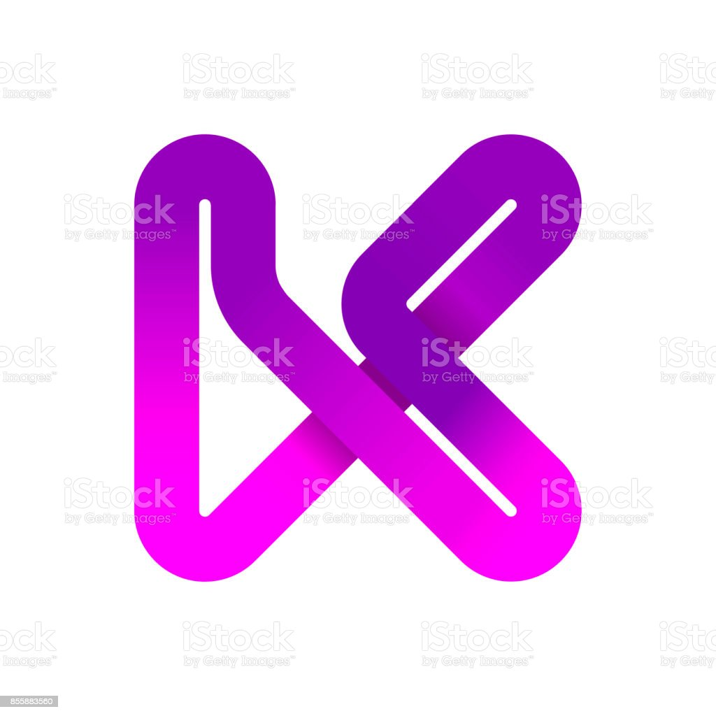 Abstract Letter K Creative Sign Template Vector Illustration Symbol ...