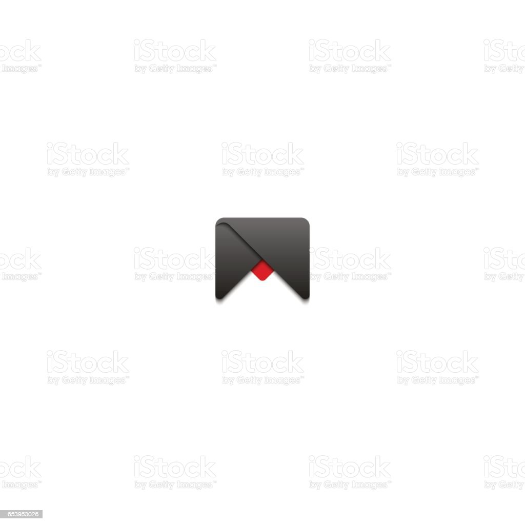 abstract letter m logo typography design element template gray triangles geometric shape business card emblem