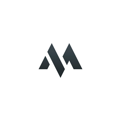 Abstract letter M logotype. Modern logotype idea sign. Universal emblem vector icon.