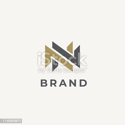 istock Abstract letter N logotype. Double N monogram. Modern N&N logo idea sign. Universal emblem vector icon. 1140553972