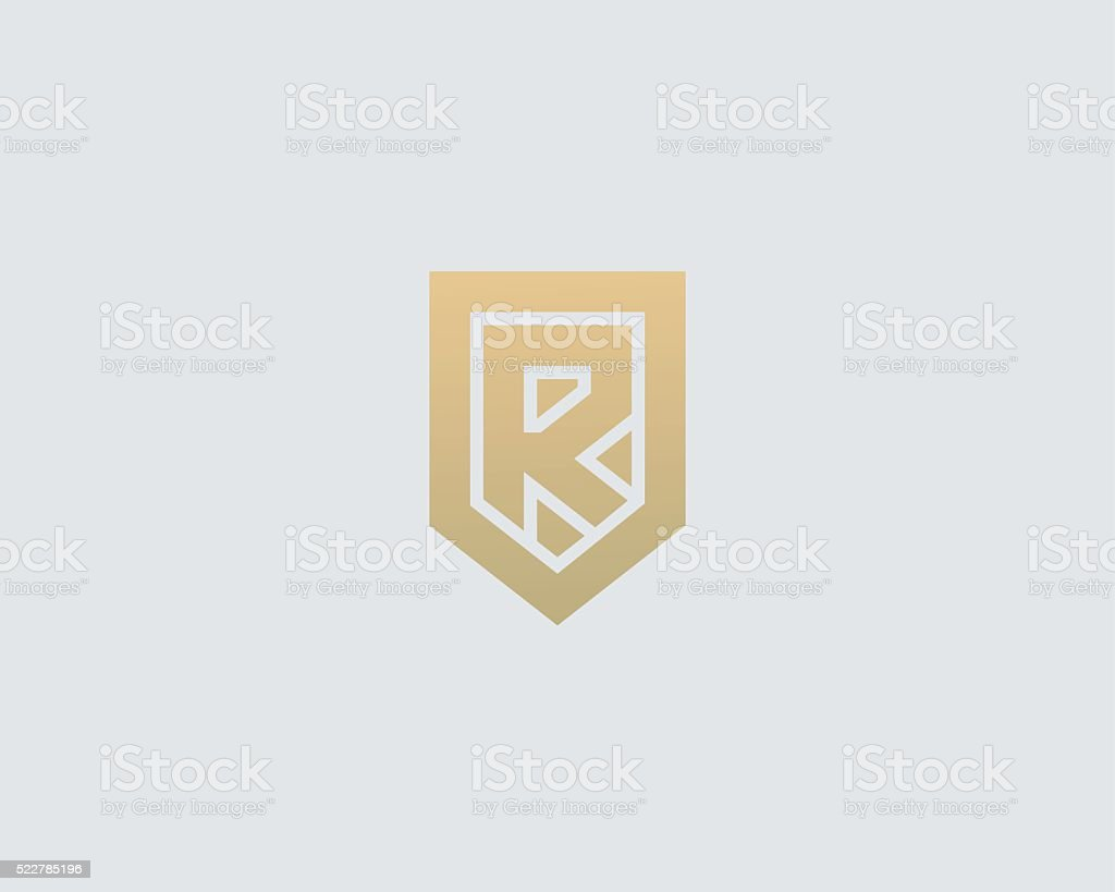 Abstract Letter R Shield Logo Design Template Premium Nominal ...