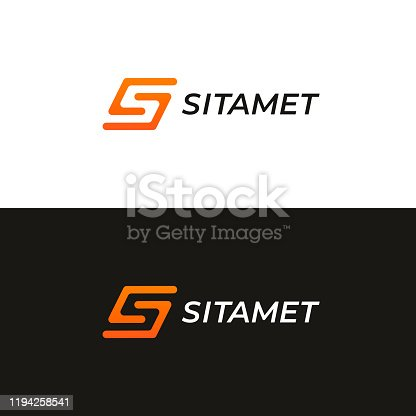 Abstract letter S logotype. Modern logo idea sign. Universal emblem vector icon.