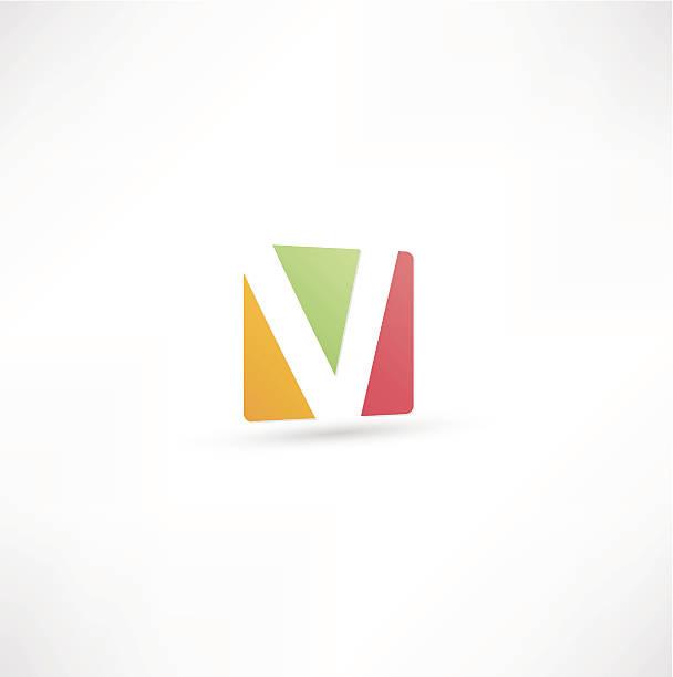 Abstract Letter V vector art illustration