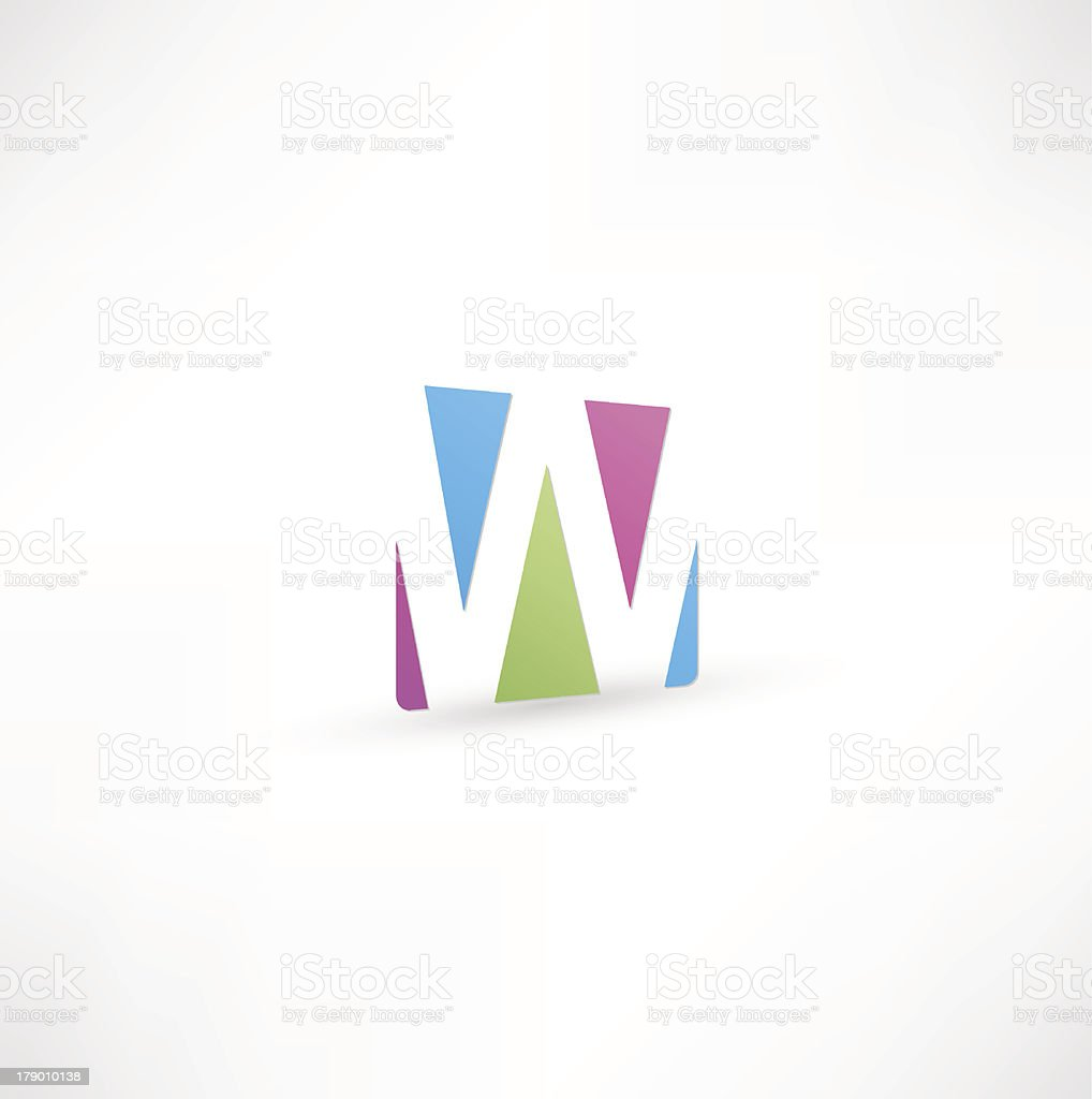 Abstract Letter W royalty-free stock vector art