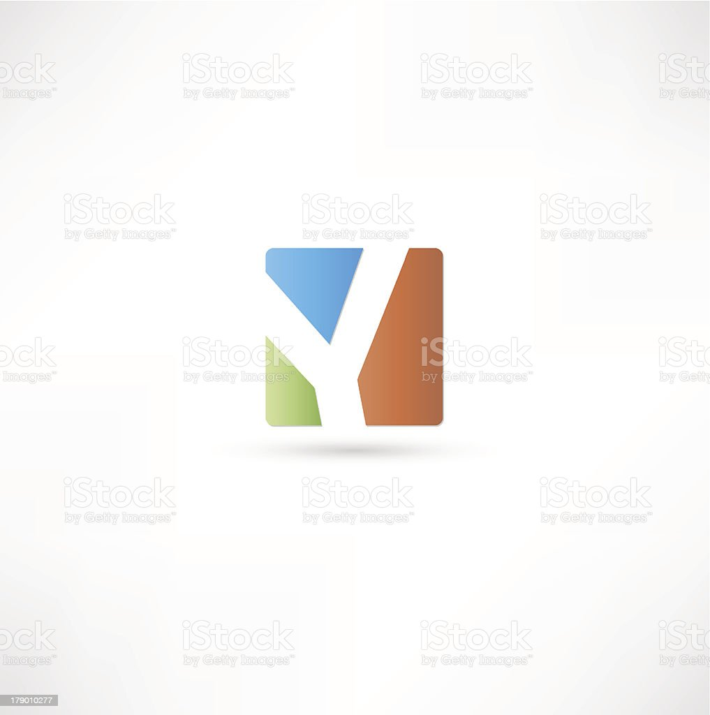 Abstract Letter Y royalty-free stock vector art