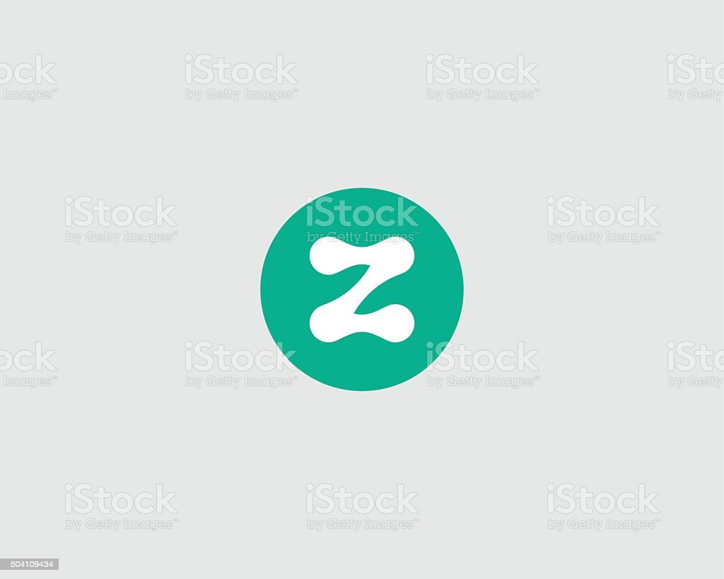 abstract letter z logo design template round creative sign